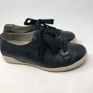 Dansko Black Leather Sneakers